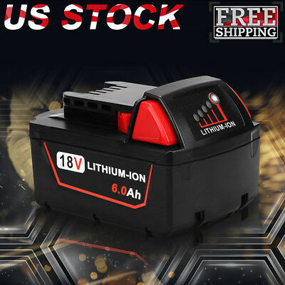 Replace For Milwaukee 48-11-1860 M18 XC 6.0AH 18V 48-11-1852 LITHIUM-ION Battery