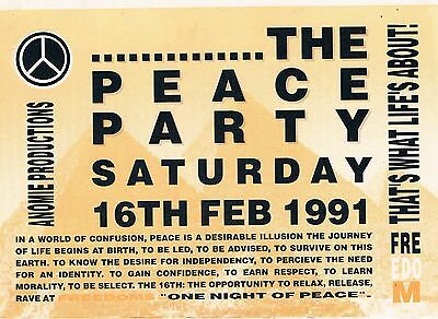 FREEDOM Rave Flyer Flyers A5 16/2/91 No venue details