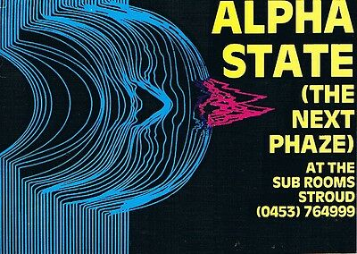 ALPHA STATE Rave Flyer Flyers 12/6/92 A5 The Sub Rooms Stroud