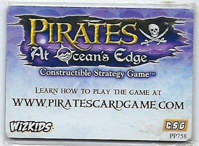 PIRATES at Ocean's Edge- Constructible Strategy Game PROMO card # 07, Sealed.