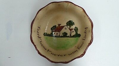 Ppp Preston Premier Remued Pottery Bowl Hand Painted Cottage Scene