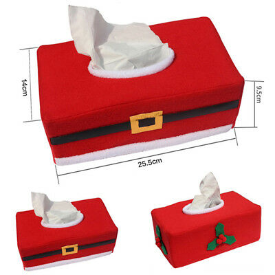 Christmas Tissue Box Cover Holder Home Office Car Paper Box Table Storage Bag *1
