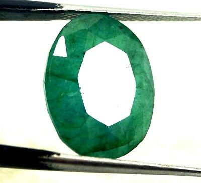 GGL Certified  7.35 Ct Natural Exceptional Oval Cut Emerald Remarkable Gemstone