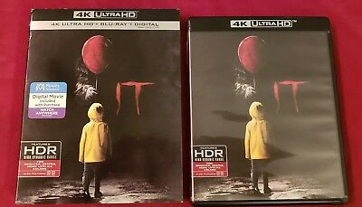 It 2017 4K Ultra Hd Blu Ray 2 Disc Set + Slipcover Sleeve Stephen King Uhd