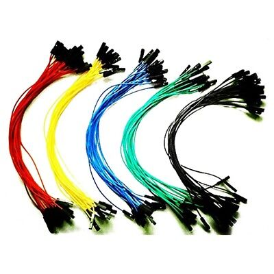 1X(100pcs 1p to 1p female to female jumper wire Dupont cable 20cm I5J2)