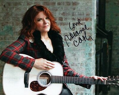 """Rosanne Cash REAL hand SIGNED 8x10"""" Photo #1 COA Johnny Cash daughter"""