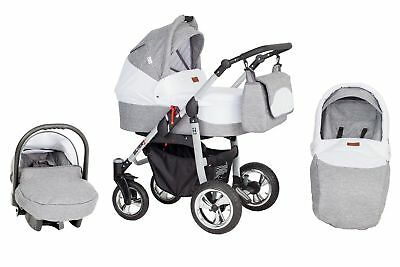 Pram Baby 3in1 Pushchair Buggy Stroller+Car Seat In Price Travel System 26 color
