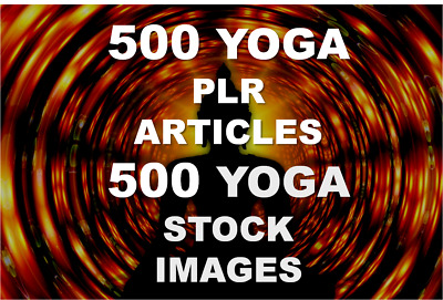 500 Yoga PLR articles and 500 YOGA stock images