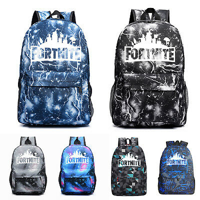 Adults Students Fortnite Battle Royale Backpack Rucksack School Bag GLOW IN DARK