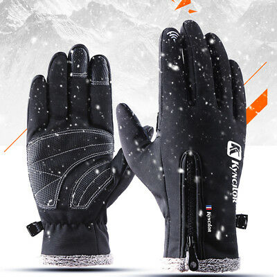 Men Women Winter Thermal Touch Screen Gloves Outdoor Sport Ski Gloves Waterproof