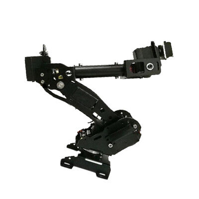 Metal Smart 8DOF Robotic Arm Robot Arm Kit For Arduino DIY Black 8 Axis