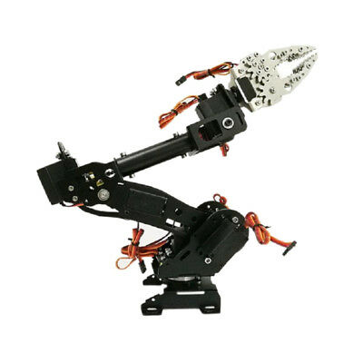 WIFI Metal 8DOF Robot Arm Gripper Kit 15kg/cm Servo Power Suite DIY Black