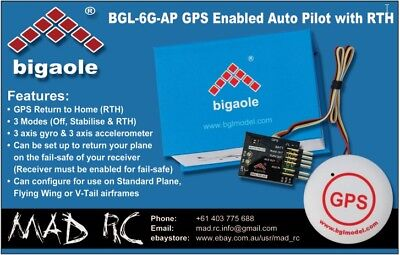 Flight Controller w GPS Return to Home (RTH) for Fixed Wing (Bigaole BGL-6G-AP)