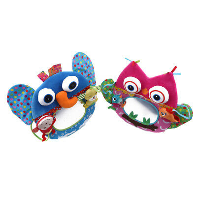 Baby Mirror Activity Elephant Owl Toy for Infant Stroller Bed Hanging Toy YI