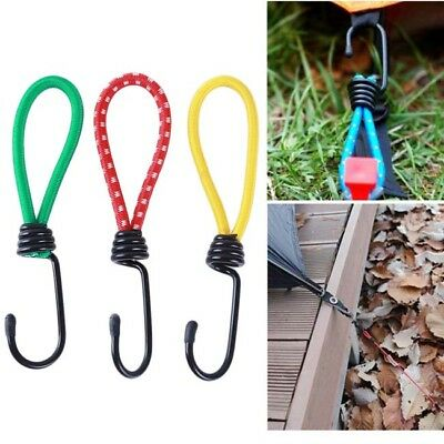 Elastic Rope Buckle Tent Hook Cord Fastener Fixing Band Camping Outdoor Supply Y