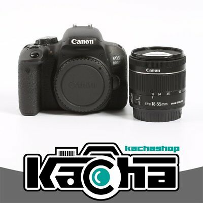 NEUF Canon EOS 800D Digital SLR Camera + EF-S 18-55mm f/4-5.6 IS STM Lens