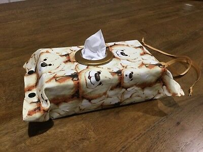 Teddy Bears, Hanging Tissue Box Cover,with a Circle Opening, Modern Design, (4)