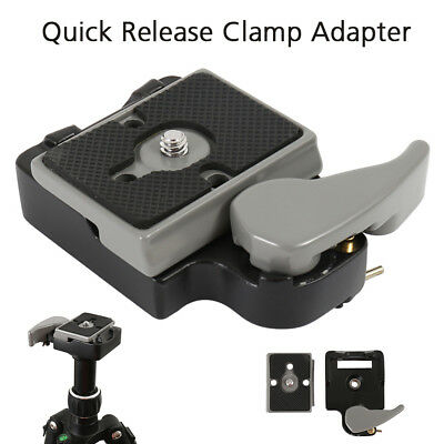 Quick Release SLR DSLR Camera Lens Tripod Clamp Plate Adapter Mount Screw Set