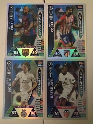 Match Attax Champions League 2018/2019. eXCLUSIVE CARDS (ES1,ES2, ES3, ES4)