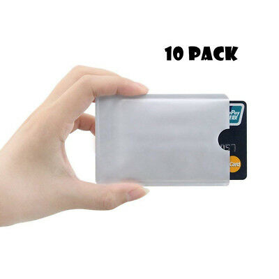 10pcs Simple Credit Card ID Anti Theft RFID Blocking Sleeve Shield Secure Holder