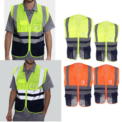 Reflective Vest High Visibility Outdoor Safety Clothing Waistcoat Motorcycle