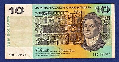 "1966 $10 Commonwealth Of Australia  'coombs & Wilson' Banknote - Prefix ""sbd"""