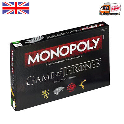 Game of Thrones Monopoly Board Fun Game Collector's Edition Xmas Party Gift UK