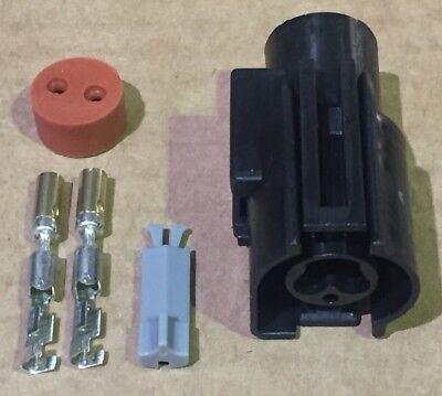 2 Pin Ford Fan Switch Connector, Fits Sierra Cosworth Zetec Focus & Other Fords.