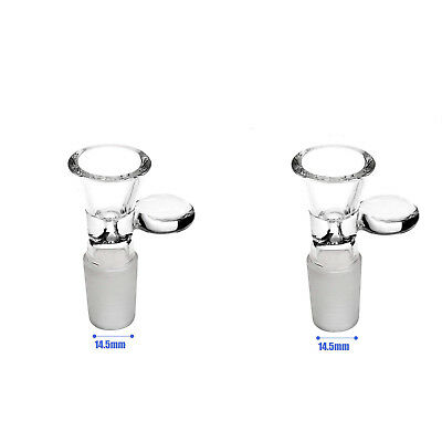 2-Pack 14.5mm Male Bong Accessories Parts Glass Bowl Fiter Ash Catcher Bongs