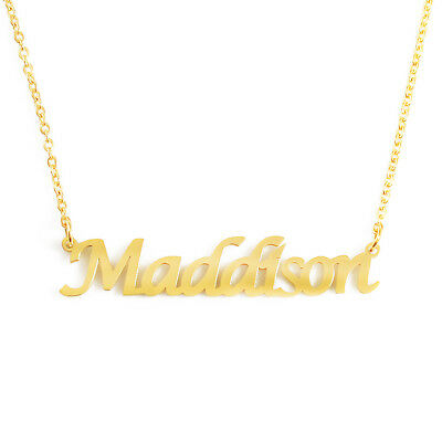 18ct Rose Gold Plated Kigu Rosie Custom Name Necklace Personalized