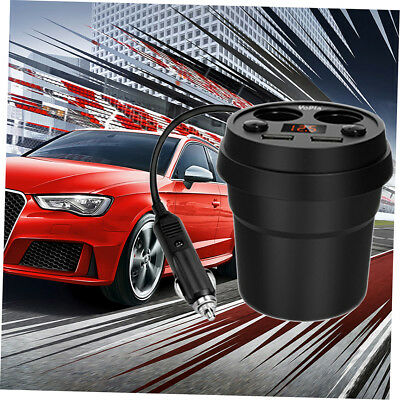 Dual USB Output Cup 2.4A Car Cigarette Lighter Splitter Universal Charger LOT RD