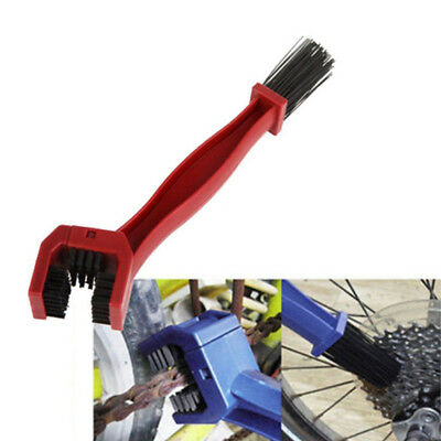 Motorcycle Bicycle Chain Wheel Cleaning Brush Motorbike Cleaner Double-End UK