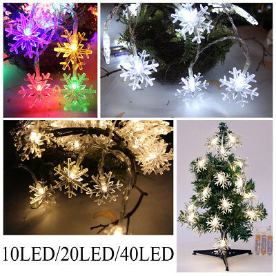 Snowflake Wired LED Lights String Fairy Christmas Tree Wedding Party Decoration