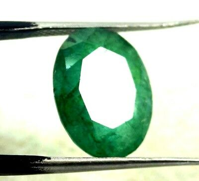 GGL Certified  5.55 Ct Natural  Exceptional Oval Cut Emerald Remarkable Gemstone