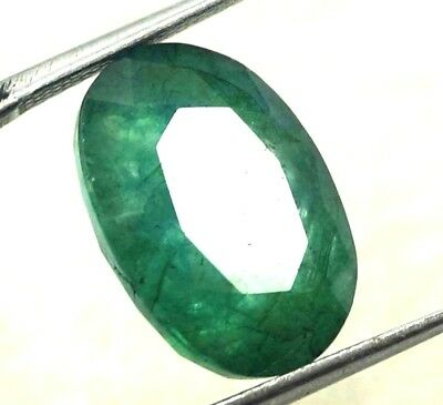 GGL Certified 7.00 Ct Natural  Exceptional Oval Cut Emerald Remarkable Gemstone
