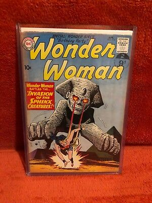 Wonder Woman #113 DC Comics Silver Age Invasion of the Sphinx Creatures 1960