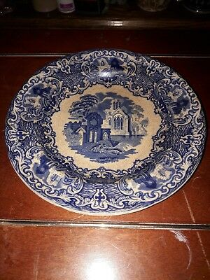 George Jones & sons Abbey 1790 England, Antique Blue & White side plate