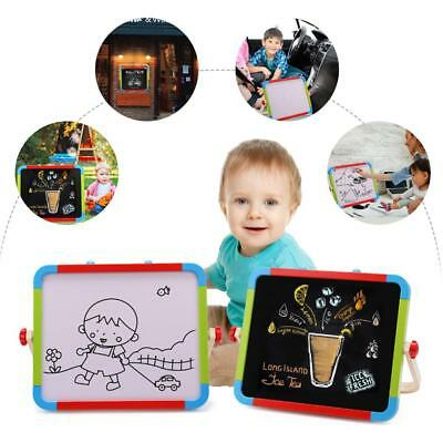 Magnetic Easel Writing Drawing Board Portable Adjustable Double-Sided Wooden