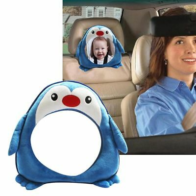 Toddler Baby Rear Facing Mirror Cartoon Penguin Kids Safety Car Back Seat Mirror