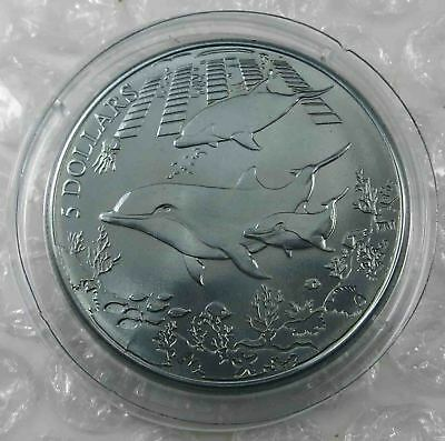 British Virgin Islands $5 Dollars 2014 Turquoise Dolphin Titanium [5073