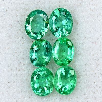 2.15 Cts Natural Top Green Emerald Oval Cut Lot Zambia 5x4 mm Loose Gemstone