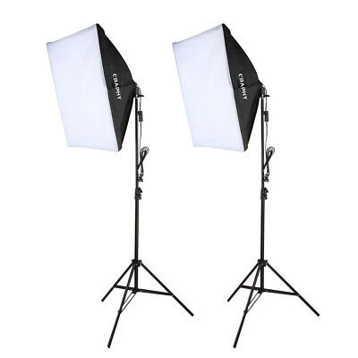 700W Photography Continuous Softbox Light with Stand Soft Studio Light 50*70cm