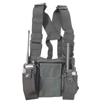 Carrying case Harness Chest Pouch Holster  for Two Way Radio Baofeng TYT UV-5R