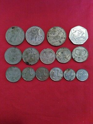 A Job Lot Of  Cyprus Coins