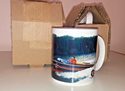 2 MUGS Don Aronow Offshore Racing Cigarette Boat Donzi SQUADRON XII SPEED KILLS