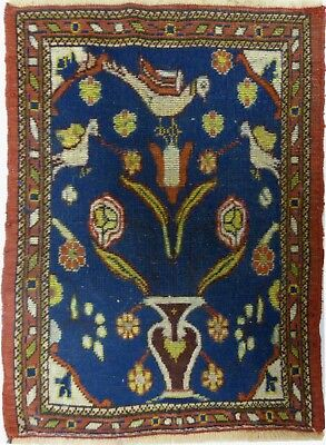 Tapis Persan Traditionnel Oriental hand made 78 cm x 56 cm  N° 53
