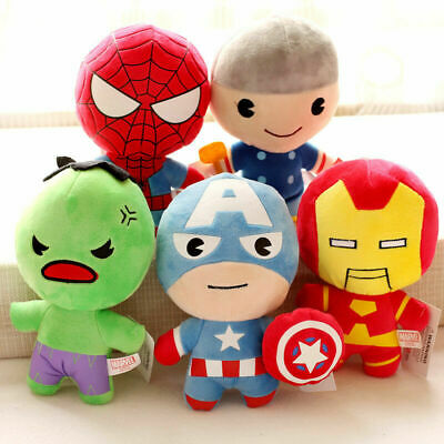"4"" 8"" Marvel Avengers Hero Stuffed Soft Plush Doll Toy Kid Infant Baby Cute Gift"
