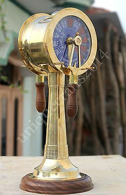 Brass Ship's Engine Order Telegraph Vintage Maritime Collectible Decorative Gift