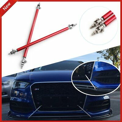 Pair Adjustable Front/Rear Frame Bumper Protector Splitter Rod Support Universal