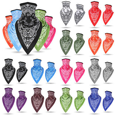 Paisley Pattern Warmer Face Mask Shield Neck Tube Motorcycle Scarf  Wrap Party